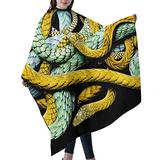 """Haircut Cape Colorful Corn Snakes Hair Salon Cape with Telescopic Buckle Hair Styling Cape for Adult Children Waterproof Anti-Static Cloak for Family and Hair Salon Hair Cutting Cape W55"""" L66"""""""