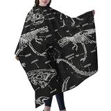 """Haircut Cape Dinosaurs Dino Skull Hair Salon Cape with Telescopic Buckle Hair Styling Cape for Adult Kids Waterproof Anti-Static Cloak for Family and Hair Salon Hair Cutting Cape W55"""" L66"""""""