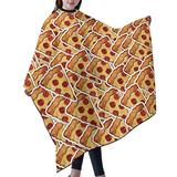 """Haircut Cape Delicious Food Pizza Hair Salon Cape with Telescopic Buckle Hair Styling Cape for Unisex Children Waterproof Anti-Static Cloak for Family and Hair Salon Hair Cutting Cape W55"""" L66"""""""