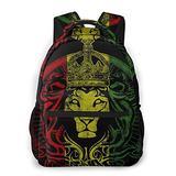 Boys Grils Backpack Back To School Gift - The Lion King Judah Rasta Rastafari Jamaica Reggae Carry On Bag School Shoulder Book Bags Travel Hiking Daypack, Gym Outdoor Hiking Bag Laptop Book Rucksack