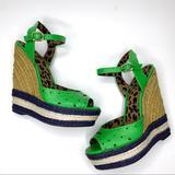 Jessica Simpson Shoes   Jessica Simpson Green Espadrilles Platform Wedges   Color: Green   Size: 7.5