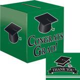 Creative Converting Graduation Card Box & Thank You Card Kit in Green | Wayfair DTCGREEN1E