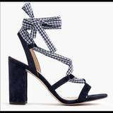 J. Crew Shoes   J.Crew Gingham Lace Up Stella Sandal Navy   Color: Blue   Size: 5.5