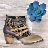 Anthropologie Shoes | Lartiste By Spring Step Redding Ankle Bootie | Color: Black/Tan | Size: 6