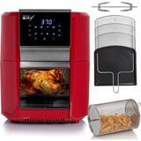 Deco Chef 12 Liter Digital Air Fryer Oven, w/ 3 Racks, Rotisserie, 8 Meal Presets Plastic in Red, Size 13.2 H x 12.8 W x 15.2 D in   Wayfair