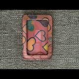 Dooney & Bourke Accessories | Dooney & Burke Pink Heart Print Id Holder | Color: Blue/Pink | Size: Os