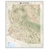 Arizona State Wall Map Material: Laminated