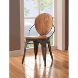 Williston Forge Kami King Louis Back Side Chair in NaturalWood in Brown, Size 32.0 H x 19.0 W x 21.0 D in   Wayfair
