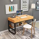 Winston Porter Multi-Layer Storage Frame Computer Desk Laptop Office Desk Pullout Keyboard Tray Wood/Metal in Black/Yellow | Wayfair