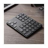 Wireless Bluetooth Numeric Keypad, Rechargeable Number Pad Keyboard with 34Keys /28Keys,Wireless Numeric Keypad (Color : Black, Size : 35 Keys)