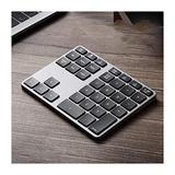 Wireless Bluetooth Numeric Keypad, Rechargeable Number Pad Keyboard with 34Keys /28Keys,Wireless Numeric Keypad (Color : Gris, Size : 35 Keys)