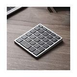 Wireless Bluetooth Numeric Keypad, Rechargeable Number Pad Keyboard with 34Keys /28Keys,Wireless Numeric Keypad (Color : Gris, Size : 28 Keys)