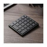 Wireless Bluetooth Numeric Keypad, Rechargeable Number Pad Keyboard with 34Keys /28Keys,Wireless Numeric Keypad (Color : Black, Size : 28 Keys)