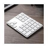 Wireless Bluetooth Numeric Keypad, Rechargeable Number Pad Keyboard with 34Keys /28Keys,Wireless Numeric Keypad (Color : White, Size : 35 Keys)