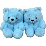 Giom Teddy Bear Slippers for Women , Women's Animal Slippers , Anti-Slip Washable Cute Plush House Slippers, Cozy Soft Women's Home Slippers Indoor Shoes, Cartoon Fluffy Indoor Outdoor Slippers for Kids and Girls, Gifts (Sky Blue)