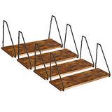 IBUYKE Rustic Floating Shelf, Wood Wall Mounted Shelf, Sturdy Storage Shelf, Easy to Install GL-TM010-4