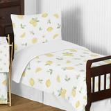 Lemon Floral 5 Piece Toddler Bedding Set By Sweet Jojo Designs Polyester in Green/White/Yellow | Wayfair Lemon-Tod