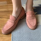 Madewell Shoes | Madewell Pink Suede Loafers Blush Pink Shoes | Color: Pink | Size: 10