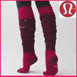 Lululemon Athletica Accessories | Lululemon Over The Knee Yoga Socks Thigh High Long | Color: Gray/Pink | Size: Various