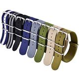 Ritche 16mm Military Ballistic Nylon Watch Strap Compatible with Timex Weekender Watch Strap Timex Replacement Watch Bands for Men Women - A (8 Packs)