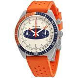 Chronograph A Quartz Off White Dial Watch - Orange - Bulova Watches