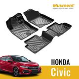 Car Floor Mats for 2020 2019 2018 2017 2016 Honda Civic All Weather Protection Fit 1st & 2nd Row Car Accessories Black Car Floor Mats for Honda Civic All Weather Protection Fit 1st & 2nd Row