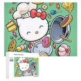 KRISMARIO 520 Piece Jigsaw Puzzle for Adults, Hello Kitty is Cooking Puzzle DIY Kit Wooden Puzzle Modern Home Decor Unique Gift for Lovers or Friends One Size