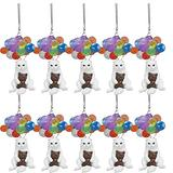 Yiihappy Cat Dog Car Hanging Ornament with Ballons, Flying Animal with Colorful Balloon, Ornaments Decorative for Rear View Mirror, Funny Animal Car Interior Home Art Decor