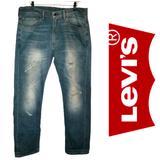 Levi's Jeans | Levis 505 Mens Factory Distressed Blue Jeans 3634 | Color: Blue | Size: 36