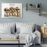 Stupell Industries Puppy Dog Triple Threat Phrase Labrador Triplets by Olg Shefranov - Graphic Art Print Wood in Brown   Wayfair ac-217_wd_13x19