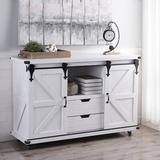 Sand & Stable™ Bjorn 2 Door Accent Cabinet Wood in Gray, Size 32.0 H x 47.0 W x 16.0 D in | Wayfair 4294AA78357743608B0767A4019DE051