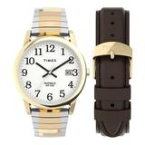 Timex Easy Reader Men's Expansion Band Watch & Leather Strap Box Set - TWG025500JT, Size: Medium, Multicolor