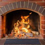 Fireproof Fireplace Hearth Rug Non Slip Protection Mat Flame Resistant Pad Rectangle Hearth Fireplace Area Rug Blanket