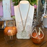 Jessica Simpson Jewelry | Necklace, Earrings And Bracelet Set | Color: Gold/Tan | Size: Os