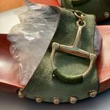 Gucci Shoes | Gucci Womens Clog Sandals | Color: Green/Silver | Size: 8.5