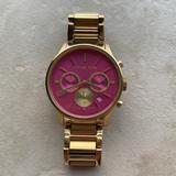 Michael Kors Accessories   Michael Kors Womens Gold Watch With Pink Face   Color: Gold/Pink   Size: Small Wrist