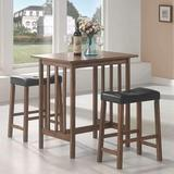 Winston Porter Spacesaving 3 Piece Breakfast Nook Dining Set Wood/Upholstered Chairs in Black/Brown, Size 33.75 H x 23.5 W x 31.75 D in   Wayfair