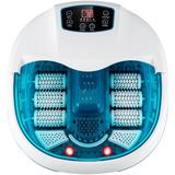 Costway Foot Spa Tub with Bubbles and Electric Massage Rollers for Home Use-Blue