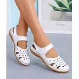 YASIRUN Women's Sandals White - White Cutout Closed-Toe Sandal - Women