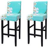 WOMACO Bar Stool Covers Stretch Counter Height Side Chair Slipcover Protector for Dining Room Kitchen Cafe Furniture Chair (Z5-B, 2 Pack)