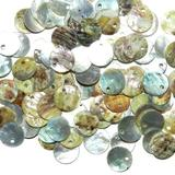 S122 Light Gray Mussel Shell 10mm Round Top-Driled Coin Drop Gemstone Bead 100pc Crafting Key Chain Bracelet Necklace Jewelry Accessories Pendants