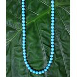 Katherine Winters Women's Necklaces SILVER - Turquoise Mala Beaded Necklace