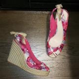 Coach Shoes   Coach Maritza Platform Espadrille Bow Wedge 7.5   Color: Pink/Purple   Size: 7.5