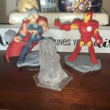Disney Toys | Disney Infinity 2.0 Marvel Pieces Thor & Iron Man | Color: Blue/Red | Size: Osb