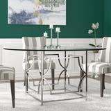 Gold Flamingo Benson Dining TableGlass/Metal in Gray, Size 30.0 H in   Wayfair E1F7B43F300C41BDAD33396BB2CF672E