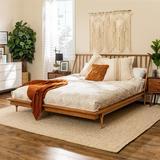King Mid Century Modern Solid Wood Spindle Platform Bed - Caramel - Walker Edison BKSPINCA