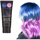 znvwki Hair Color Wax Temporary Color, Heat Activated Hair Dye, Thermochromic Color Changing Wonder Dye Hair Dye Fashion, Heat Sensitive Color Changing Hair Dye, Cream Semi Permanent Hair Dye (Blue)