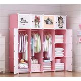 Shefure Children Furniture Kid Wardrobe Kids Cartoon Storage Cabinet Simple Assembly Resin Closet guarda Roupa Infantil Kids Furniture Bedroom Armoires (Color : Burgundy)