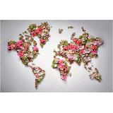 Yqgdss World Map Full of Flowers 1000 Pieces of Adult Or Children Jigsaw Puzzle Toys Game Gift Family Cooperative Jigsaw Full