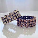 J. Crew Jewelry | J. Crew Crystal Bracelets | Color: Cream/Gold | Size: Os